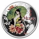 2021 Niue 1 oz Silver $2 Disney: Mulan