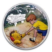 2021 Niue 1 oz Silver $2 Disney Winnie the Pooh & Christopher R.
