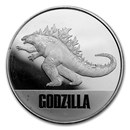 2021 Niue 1 oz Silver $2 Godzilla Coin (Abrasions)