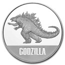 2021 Niue 1 oz Silver $2 Godzilla Coin BU