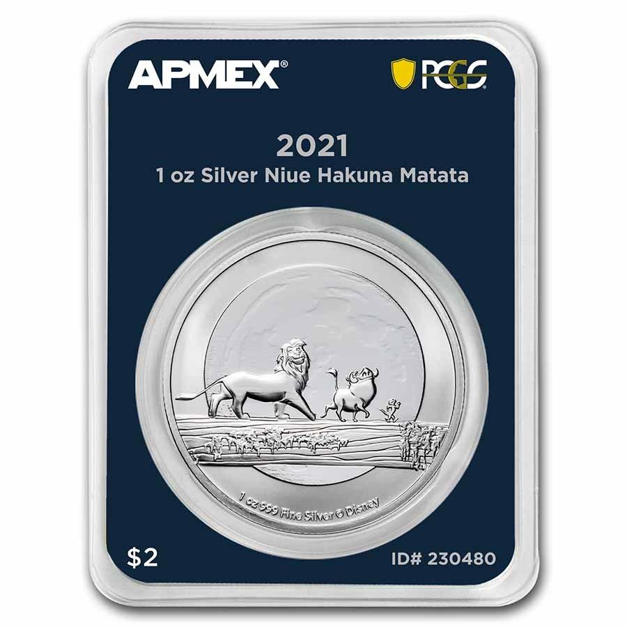 2021 Niue 1 oz Silver $2 Hakuna Matata (MD® Premier + PCGS FS)