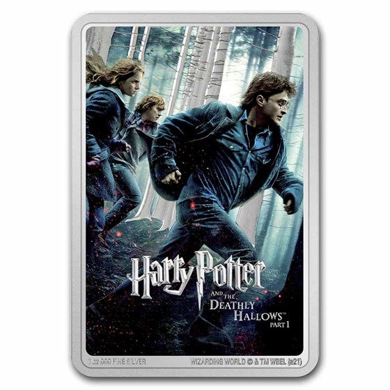 2021 Niue 1 oz Silver $2 Harry Potter & Deathly Hallows Part I