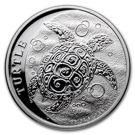 2021 Niue 1 oz Silver $2 Hawksbill Turtle BU
