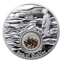2021 Niue 1 oz Silver $2 In the Footsteps of Jesus Sea of Galilee