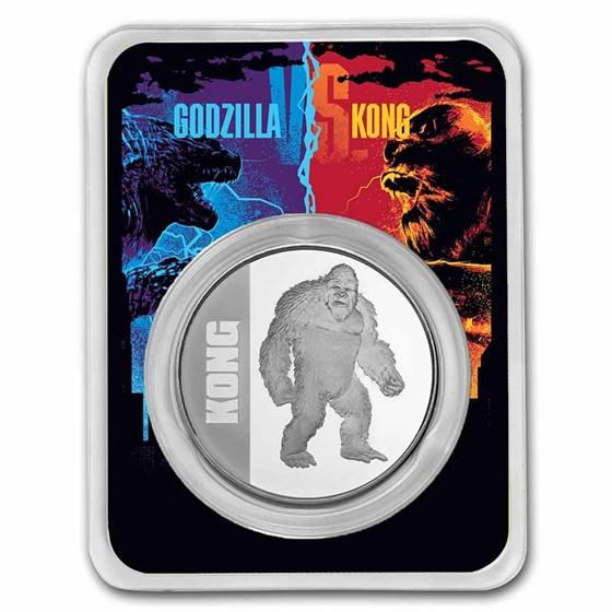 2021 Niue 1 oz Silver $2 Kong Coin BU in TEP
