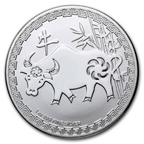 2021 Niue 1 oz Silver $2 Lunar Year of the Ox BU