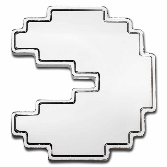 2021 Niue 1 oz Silver $2 PAC-MAN™ Shaped PAC-STACK Stackable Coin