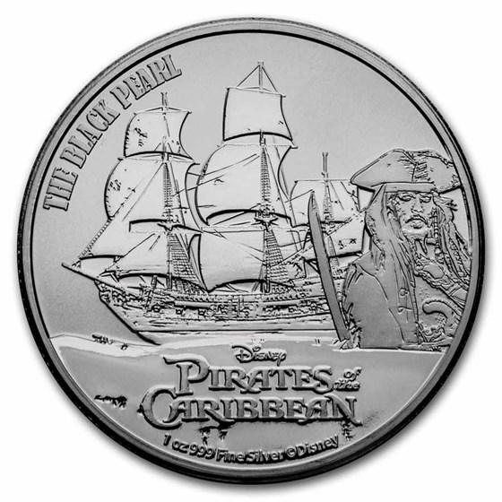 2021 Niue 1 oz Silver $2 Pirates of the Caribbean: Black Pearl BU