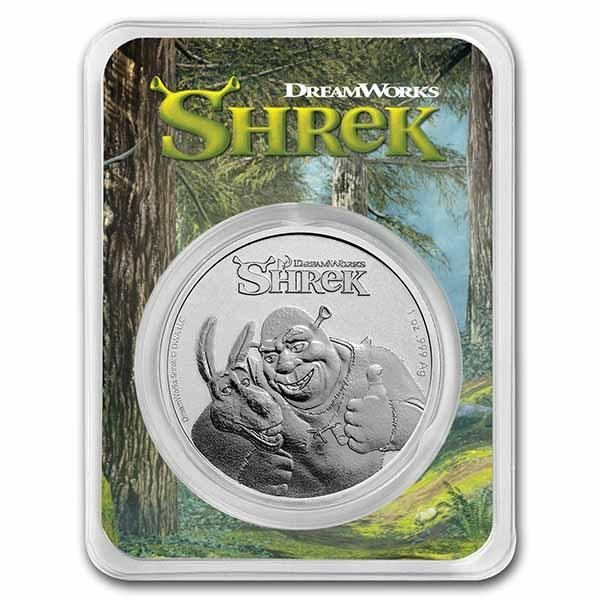 2021 Niue 1 oz Silver $2 Shrek 20th Anniversary Coin in TEP