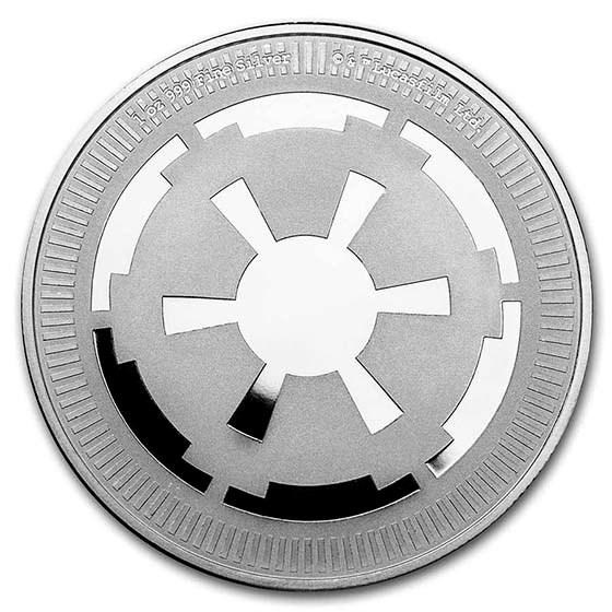 2021 Niue 1 oz Silver $2 Star Wars: Galactic Empire Bullion Coin