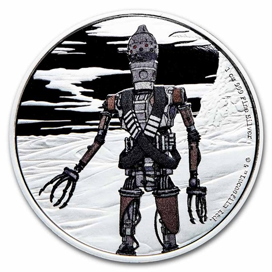2021 Niue 1 oz Silver $2 Star Wars IG-11 (w/Box & COA)