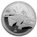 2021 Niue 1 oz Silver $2 Star Wars: Millennium Falcon BU
