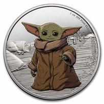 2021 Niue 1 oz Silver $2 Star Wars The Child (w/Box & COA)