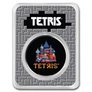 2021 Niue 1 oz Silver $2 Tetris™ Cathedral in TEP (Colorized)