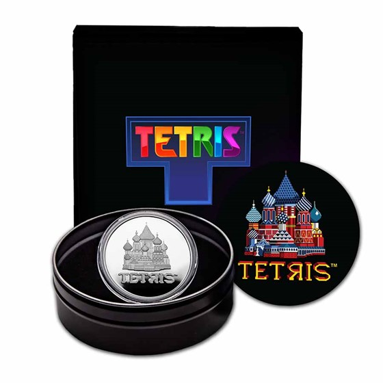 2021 Niue 1 oz Silver $2 Tetris™ Cathedral Proof