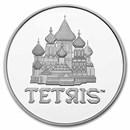 2021 Niue 1 oz Silver $2 Tetris™ St. Basil's Cathedral BU