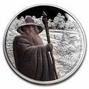 2021 Niue 1 oz Silver $2 The Lord of the Rings: Gandalf the Grey
