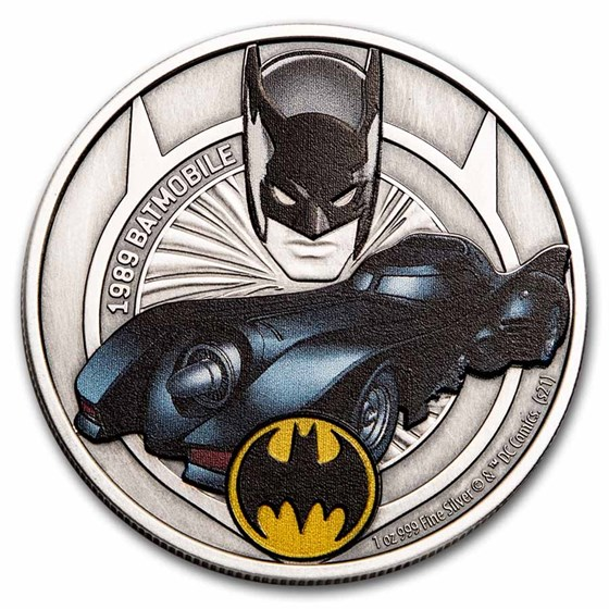 2021 Niue 1 oz Silver Batmobile Collection: 1989
