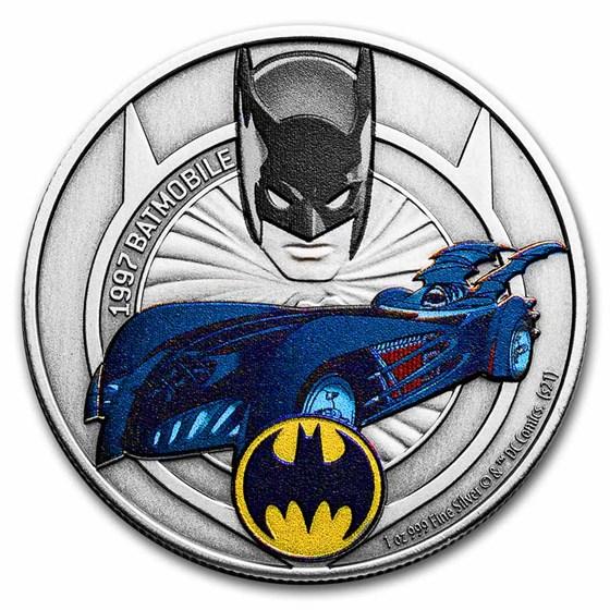 2021 Niue 1 oz Silver Batmobile Collection: 1997