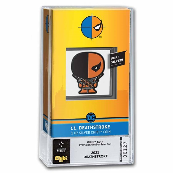 2021 Niue 1 oz Silver Chibi Coin: Deathstroke (Numbered Premium)