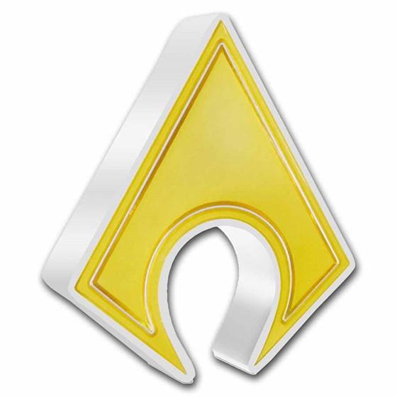 2021 Niue 1 oz Silver Coin $2 DC Heroes: AQUAMAN™ Emblem