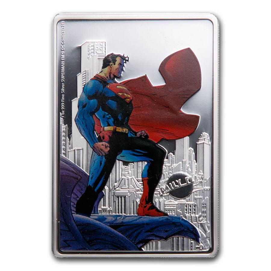 2021 Niue 1 oz Silver Coin $2 - Superman: The Man of Steel