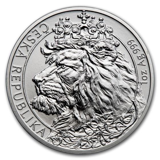 2021 Niue 1 oz Silver Czech Lion BU