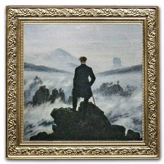 2021 Niue 1 oz Silver Friedrich: Wanderer Above the Sea of Fog