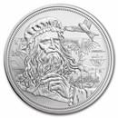 2021 Niue 1 oz Silver Icons of Inspiration: da Vinci BU