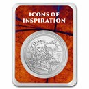 2021 Niue 1 oz Silver Icons of Inspiration: da Vinci in TEP