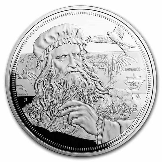 2021 Niue 1 oz Silver Icons of Inspiration: da Vinci Proof
