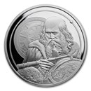 2021 Niue 1 oz Silver Icons of Inspiration - Galileo BU