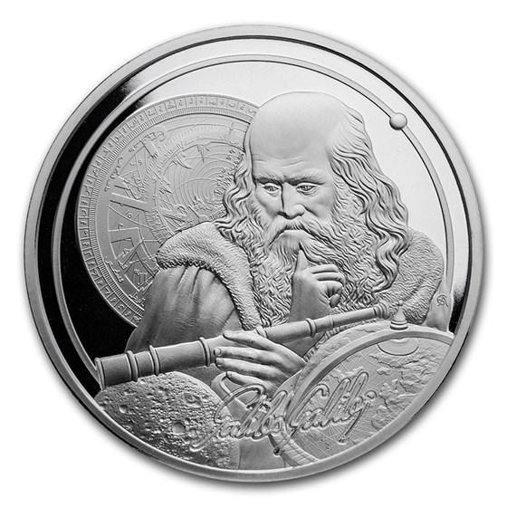 2021 Niue 1 oz Silver Icons of Inspiration: Galileo BU