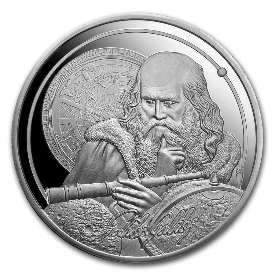 2021 Niue 1 oz Silver Icons of Inspiration: Galileo Proof