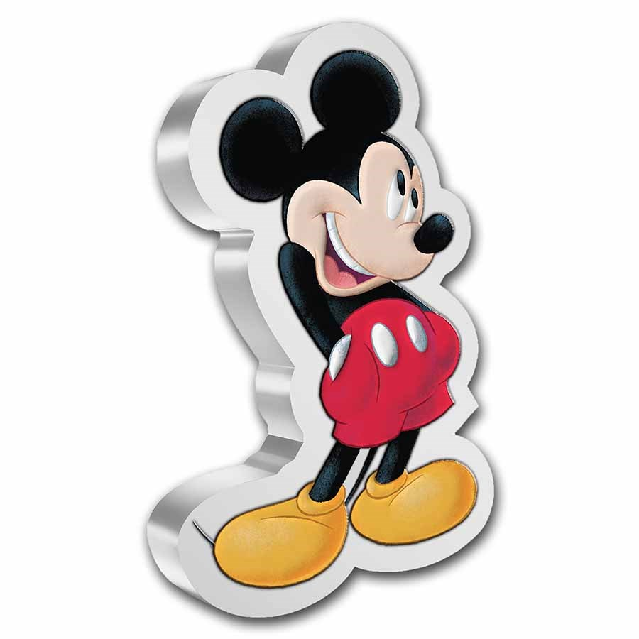 2021 Niue 1 oz Silver Mickey Mouse Shaped Coin
