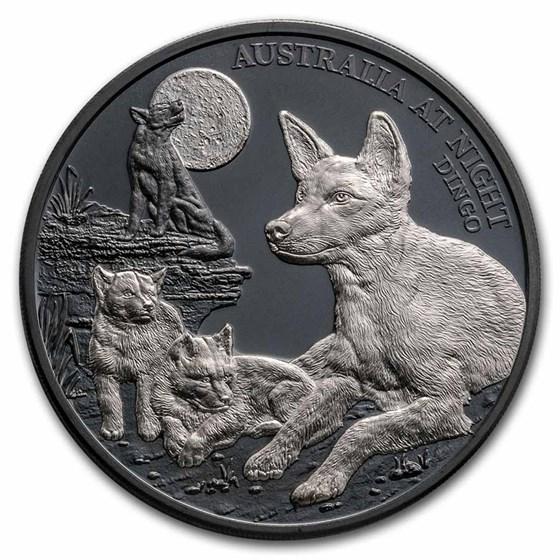 2021 Niue 1 oz Silver Proof Australia at Night: Dingo