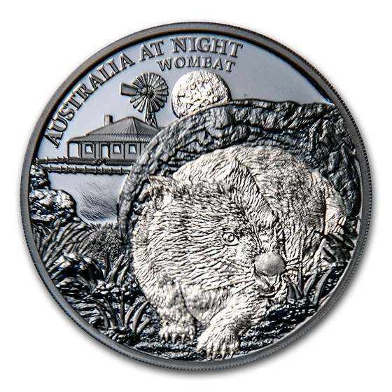 2021 Niue 1 oz Silver Proof Australia at Night (Wombat)