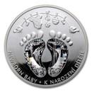 2021 Niue 1 oz Silver Proof Crystal Coin: Newborn Baby