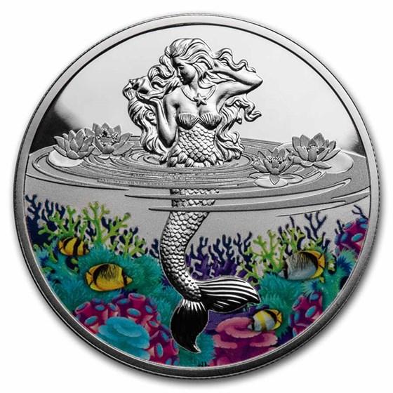 2021 Niue 1 oz Silver Proof Mermaid