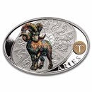 2021 Niue 1 oz Silver Proof Signs of Zodiac: Aries