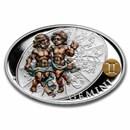 2021 Niue 1 oz Silver Proof Signs of Zodiac: Gemini
