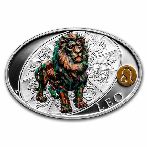 2021 Niue 1 oz Silver Proof Signs of Zodiac: Leo