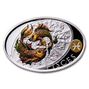 2021 Niue 1 oz Silver Proof Signs of Zodiac: Pisces