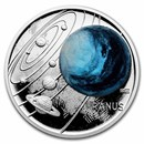 2021 Niue 1 oz Silver Proof Solar System (Uranus)