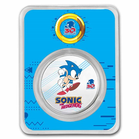 2021 Niue 1 oz Silver Sonic Colorized (with TEP)