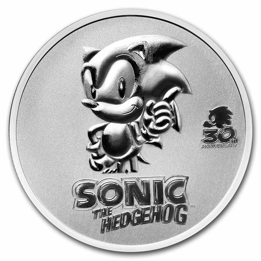 2021 Niue 1 oz Silver Sonic the Hedgehog 30th Anniversary Coin BU