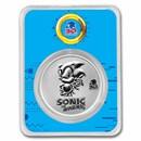 2021 Niue 1 oz Silver Sonic the Hedgehog 30th Anniversary (w/TEP)
