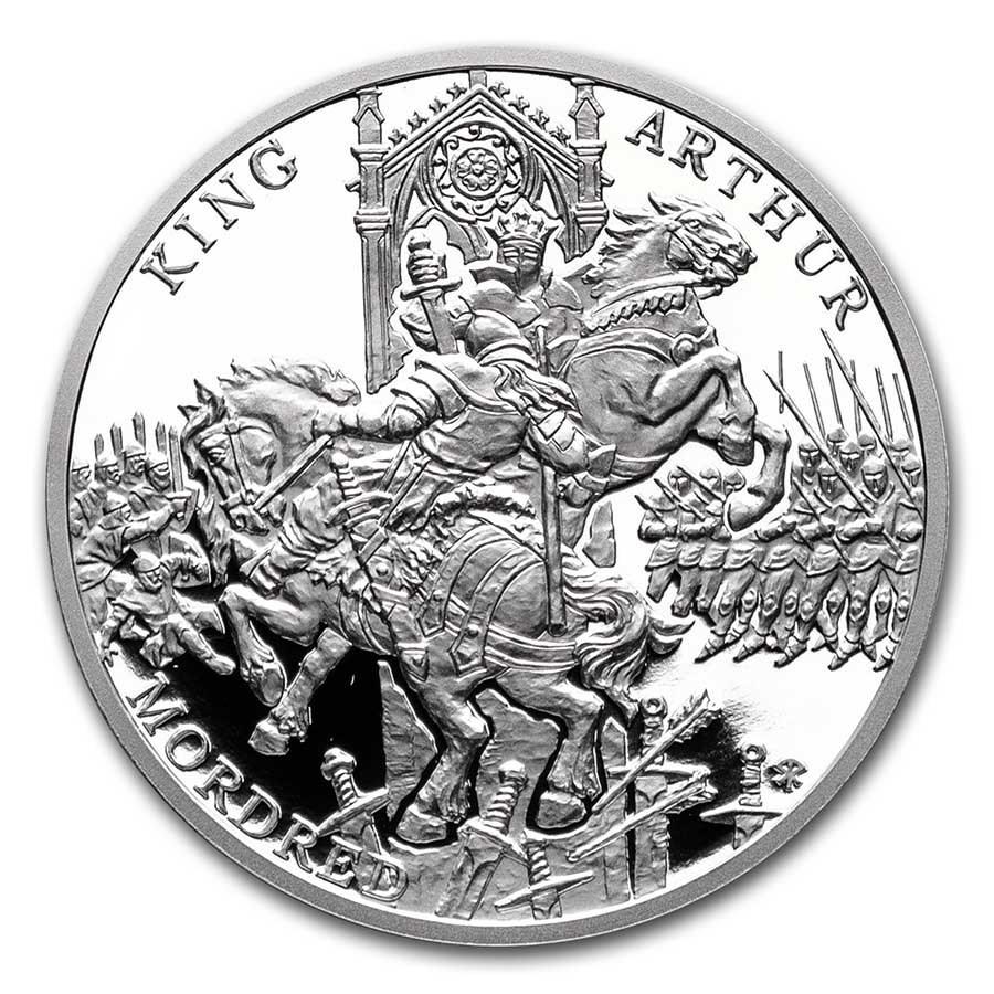 2021 Niue 1 oz Silver The Legend of King Arthur-Arthur & Mordred