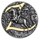 2021 Niue 2 oz Antique Silver Zorro