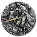 2021 Niue 2 oz Silver Antique Camelot: Arthur Pendragon